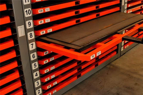 big steel rack sheet metal shelving system