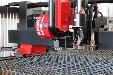 kinetic plasma cutting system